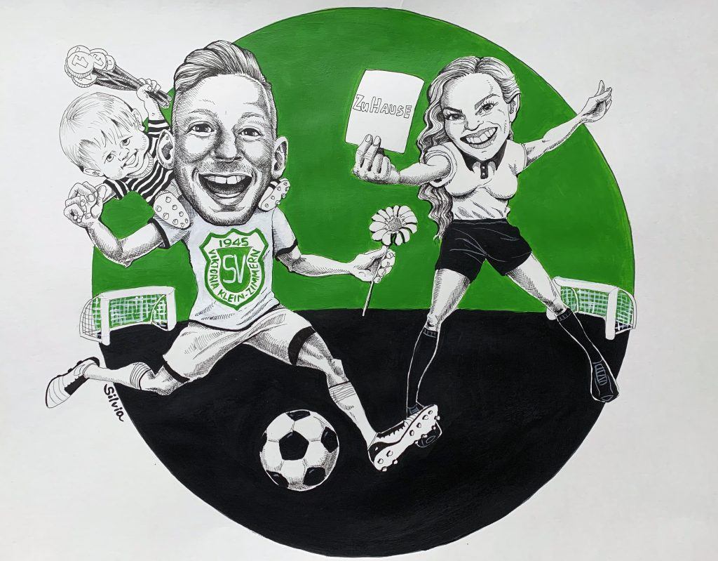 Karikaturen nach Fotovorlagen, Karikaturen vom Foto, Familienarikatur von Silvia S'Orell
