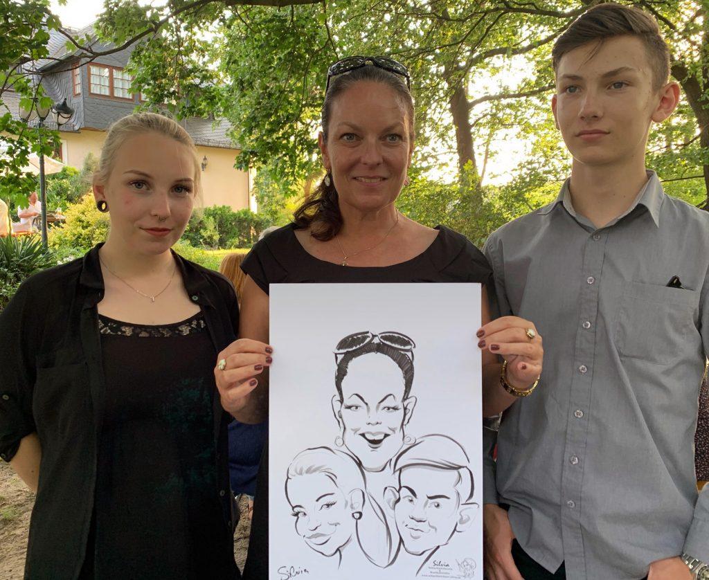 Portrait - Schnellzeichner - karikaturist Silvia S'Orell ( Silvia Sorell )