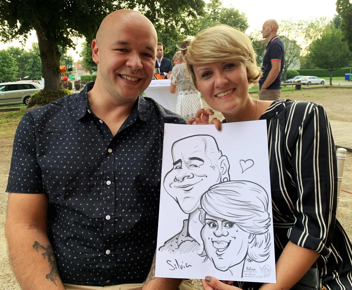Hochzeit Karikatur von  Schnellzeichner Silvia S'Orell Radulova