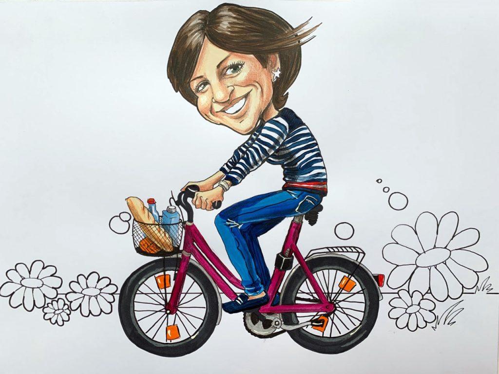 Karikaturen nach Fotovorlagen, Karikaturen vom Foto, Karikatur von Silvia S'Orell